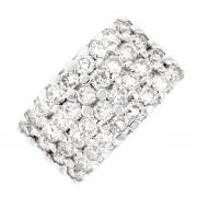 Bague pavage diamants 2.16 carats en or blanc