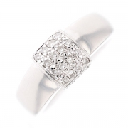Bague pavage diamants 0.32 carat en or blanc