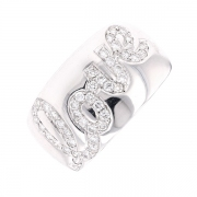 Bague bandeau LOVE diamants 0.47 carat en or blanc