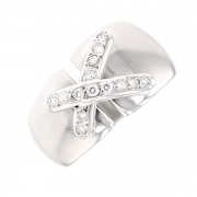 Bague liens diamants 0.42 carat en or blanc