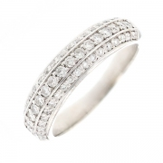 Bague pavage diamants 0.40 carat en or blanc