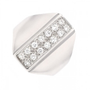 Bague pavage diamants 0.21 carat en or blanc