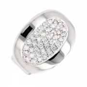 Bague pavage diamants 0.80 carat en or blanc