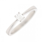 Solitaire diamant 0.20 carat en or blanc