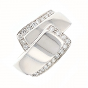 Bague entrelacs diamants 0.46 carat en or blanc
