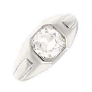 Solitaire diamant 1.55 carat en or blanc