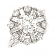 Bague diamants 1.76 carat en or blanc