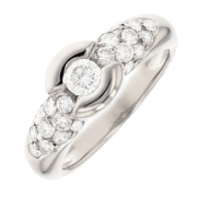 Bague diamants 0.70 carat en or blanc