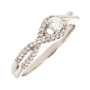 Bague diamants 0.25 carat en or blanc