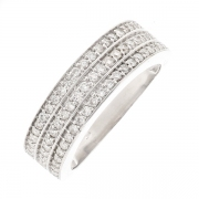 Bague diamants 0.33 carat en or blanc