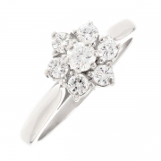 Bague diamants 0.50 carat en or blanc