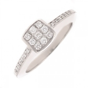 Bague diamants 0.24 carat en or blanc