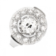 Bague diamants 0.81 carat en or blanc