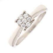 Bague diamants 0.19 carat en or blanc