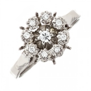 Bague diamants 0.14 carat en or blanc