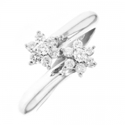 Bague diamants 0.34 carat en or blanc