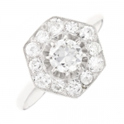 Bague diamants 1.41 carat en or blanc
