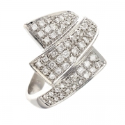 Bague diamants 0.58 carat en or blanc