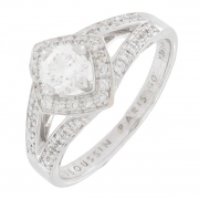 Mauboussin - Bague Love diamants 0,20 carat en or blanc - Occasion