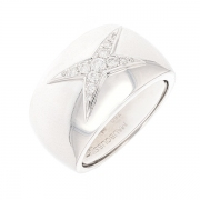Bague ETOILE DIVINE signée MAUBOUSSIN diamants 0.20 carat en or blanc