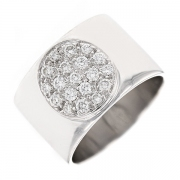 Bague signée DINH VAN modèle ANTHEAS diamants 0.39 carat en or blanc