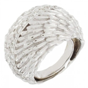 Bague boule diamants 0,60 carat en or blanc