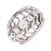 Bague diamants 0.60 carat en or blanc