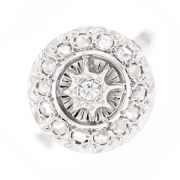 Bague ronde diamants 0.20 carat en or blanc