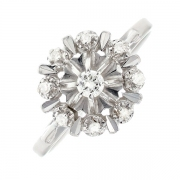 Bague diamants 0.22 carat en or blanc