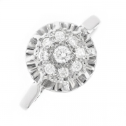 Bague diamants 0.20 carat en or blanc