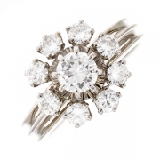 Bague diamants 1.35 carat en or blanc