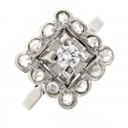 Bague Vintage diamants 0.25 carat en or blanc