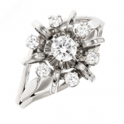 Bague Vintage diamants 0.35 carat en or blanc
