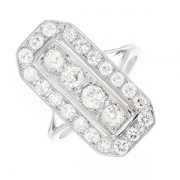 Bague diamants 1.20 carat en or blanc