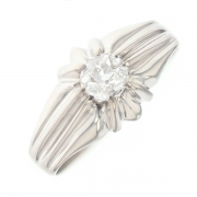 Bague vintage diamant 0.50 carat en or blanc