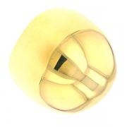 Bague boule en or jaune 15.49grs
