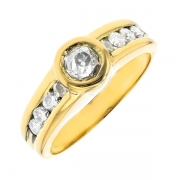 Bague diamants 0.40 carat en or jaune