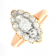 Bague marquise diamants 1.20 carat en or jaune