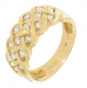 Bague diamants 0,45 carat en or jaune