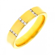Bague diamants 0.10 carat en or jaune