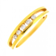 Bague diamants 0.17 carat en or jaune