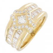 Korloff - Bague diamants 1,10 carat en or jaune - Occasion