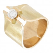 Bague diamant 0,40 carat en or jaune - Occasion