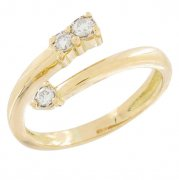 Bague diamants 0,20 carat en or jaune