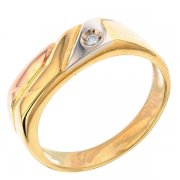 Bague diamant 0,005 carat en or jaune