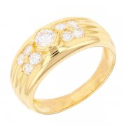Bague diamants 0,70 carat en or jaune