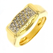 Bague diamant 0,10 carat en or jaune