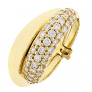 Bague entrelacs diamants 0,57 carat en or jaune