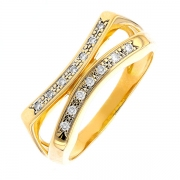Bague diamants 0.07 carat en or jaune
