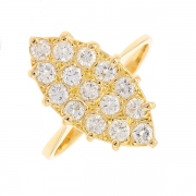 Bague marquise diamants 0.70 carat en or jaune